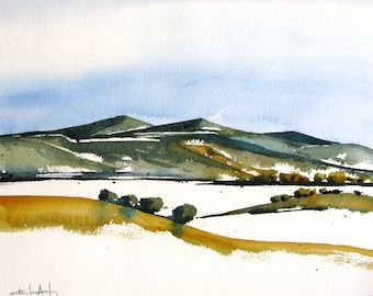 Galisteo Ranch II - Original Watercolor Painting