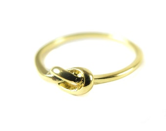 Gold Plated Knot Ring (2x) (K505-C)