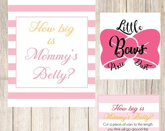 How big is mommy's belly game digital download baby shower game instant download baby shower game digital download girl baby shower games