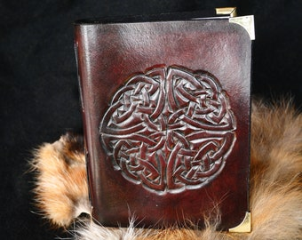 Mahogany celtic leather book / notebook