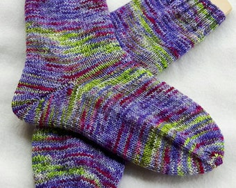 Hand Knit Socks  for Women UK 5-7, US 7-9 Piratenwolle