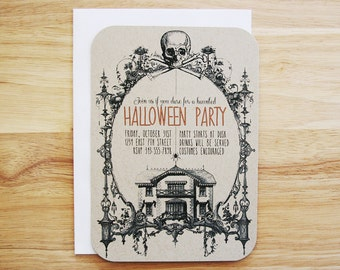 Personalized Halloween Party Invitations - Set of 12