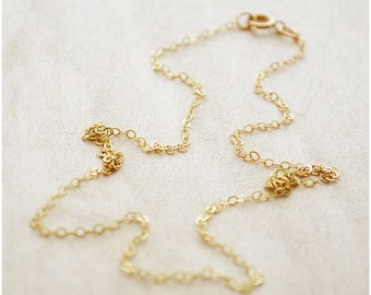Gold Chain Necklace - Gold Cable Chain Necklace - Gold Filled Chain Dainty - Add on Charms - Cable Chain Gold Necklace