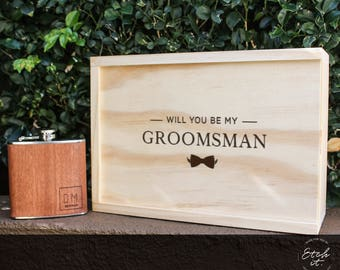 5 Bridal Party Gift Box, Will you be my bridesmaid, Will you be my groomsman, Will you be my bestman, Maid Of honour, Keep sake