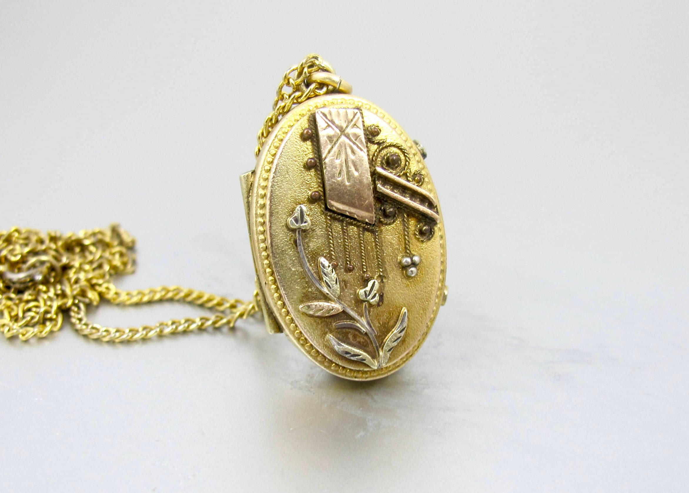 locket listing aesthetic gold fullxfull zoom il monogrammed oval victorian lockets antique