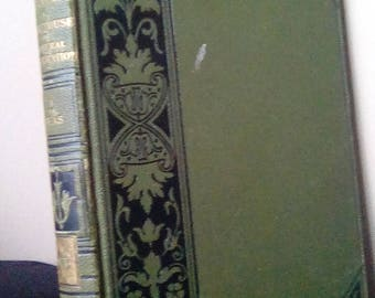 Cassells encyclopedia volume 1 A to B green leather bound vintage book