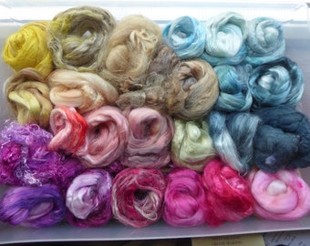 Hope Jacare - Hand dyed speciality fibre pack -  approx 140g mixed plant/speciality fibres - PLF65