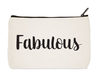 Fabulous Canvas Zipper Pouch