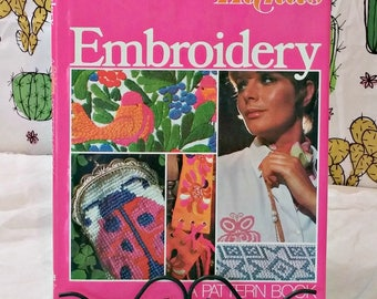 Vintage Embroidery Book   1972 Pattern Book