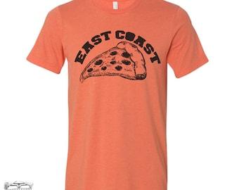 Men's East Coast PIZZA t shirt s m l xl xxl (+ Color Options) custom