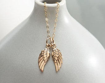 Gold Heaven Sent Angel Wing Necklace
