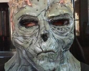 Alien Zombie- Full Head Latex Halloween Mask