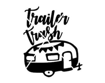 Trailer trash, Camper trailer jpg, png, svg,silhouette studio file