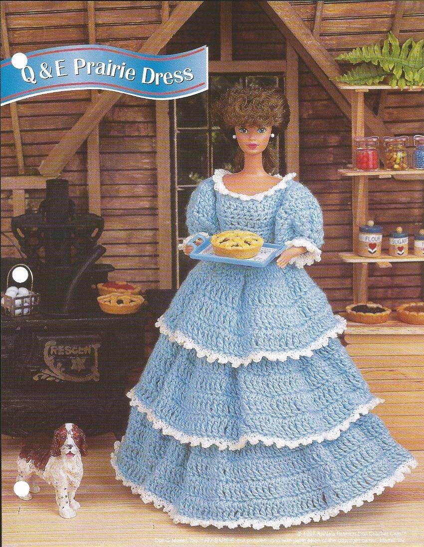 Häkeln Sie Muster häkeln Barbie-Puppe Kleidung Muster Prairie