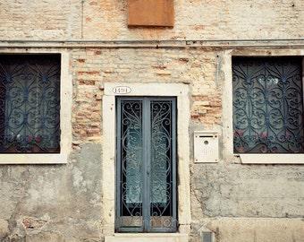 door photography, venice italy, ironwork, beige decor, architecture, travel photography, europe art, Venetian Door V08