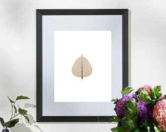 Printable art Digital Prints Wall art home decor print Brown leaf printable art, printable prints
