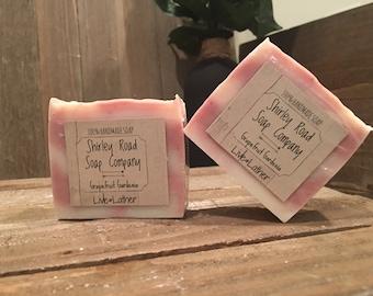 Hand Crafted Grapefruit Gardenia Soap