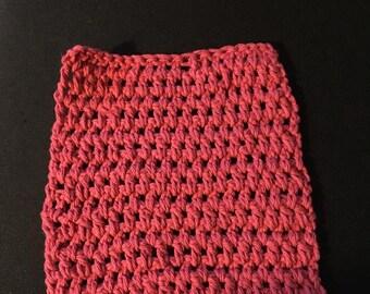 Rough Red 6 Dishcloth,Crochet Dishcloth,Handmade,Crochet DishRag,Handmade 100% Cotton,EcoFriendly,Cotton Dishcloth,Soft,Reusable,Durable,Red