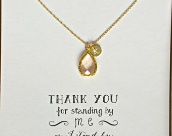 gold birthstones merci y bridesmaid maman personalised necklace