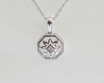 Sterling Silver .02 CT Diamond Necklace