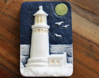 Lighthouse Soap, Lighthouse Soap Bar, Ocean Soap, Sea Soap, Beach Soap, Party Favor, Your Choice of Colors and Scents,