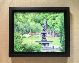 Central Park Fine Art Photography Metal Print Featuring the Bethesda Fountain, the Angel of the Waters