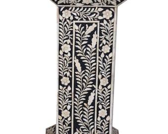 ethically sourced bone inlay pillar