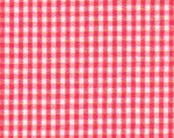 """Watermelon Gingham, 1/16"""" Gingham Fabric, Cotton Gingham"""