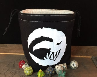Grinning Evil Moon dice bag