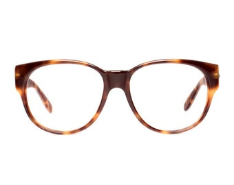 oversized vintage glasses - large brown tortoise eyeglasses - 80s eye glasses frames - new old stock - skindo