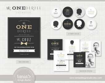 Mr. ONEderful Printable Birthday Party Package by tania's design studio