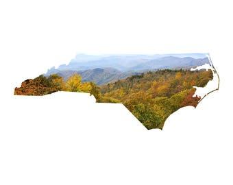 NC Shape - Blue Ridge Parkway View