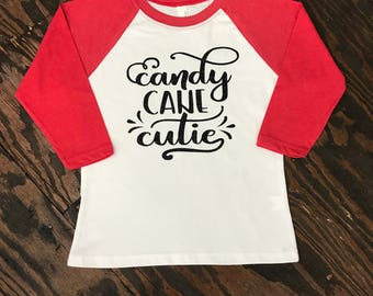 Candy cane cutie Shirt - personalized shirt - custom- christmas - Youth