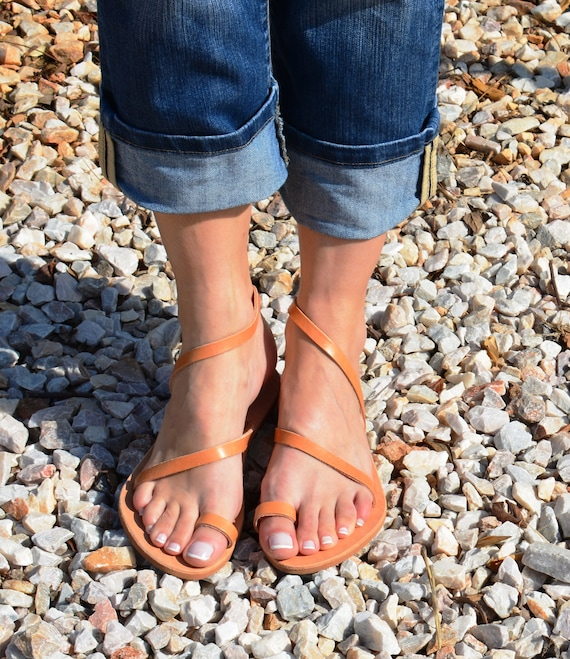 Sandals Gold Handmade colors Gold Flats many Leather sandals Sandals Toe ring Elegant Gold Sandals Greek Strappy ''Sunlight'' ATqq5