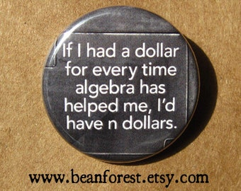 algebra n dollars - math magnet math gifts math teacher gifts accountant gift mathematics cpa accounting geekery jewelry nerdy mathematics