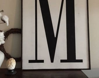 Letter sign, 16x20,  Fixer Upper Inspired # sign, Number signs, Alphabet signs