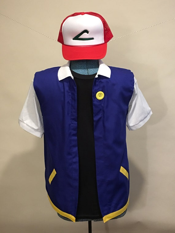 Adult 2 pc small pokemon trainer ash ketchum costume solutioingenieria Image collections