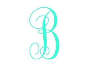 Monogram Vinyl Decal - Vinyl Monogram - Monogram Sticker - Window Decal - Car Decal - Laptop Decal - Window Sticker - Custom Decal