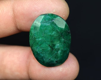 35.55  Cts. Beautiful  African  Emerald Oval  Cut Loose Gemstone