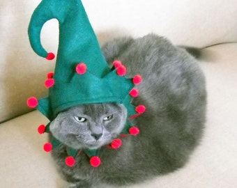 Pet Elf Costume - Small Pet Christmas  Costume  Halloween Costume Free Shipping