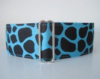 Giraffe Martingale Dog Collar, Giraffe Dog Collar, 1.5 Inch Martingale Collar, Greyhound Martingale Collars, Wide Dog Collar