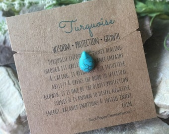 Turquoise Barely There Necklace, Turquoise Necklace, Floating Gemstone Necklace, Simple Necklace, Dainty Necklace, Turquoise Teardrop