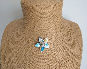Polka dot fabric Flower necklace