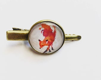 Cabochon hair clip or Barrette animal Fox