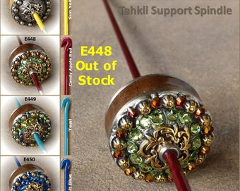 Tahkli Support Spindle - Coloma Silver or Coloma Crystal - Yellow, Red, Teal, or Blue (447-450) FREE SHIPPING