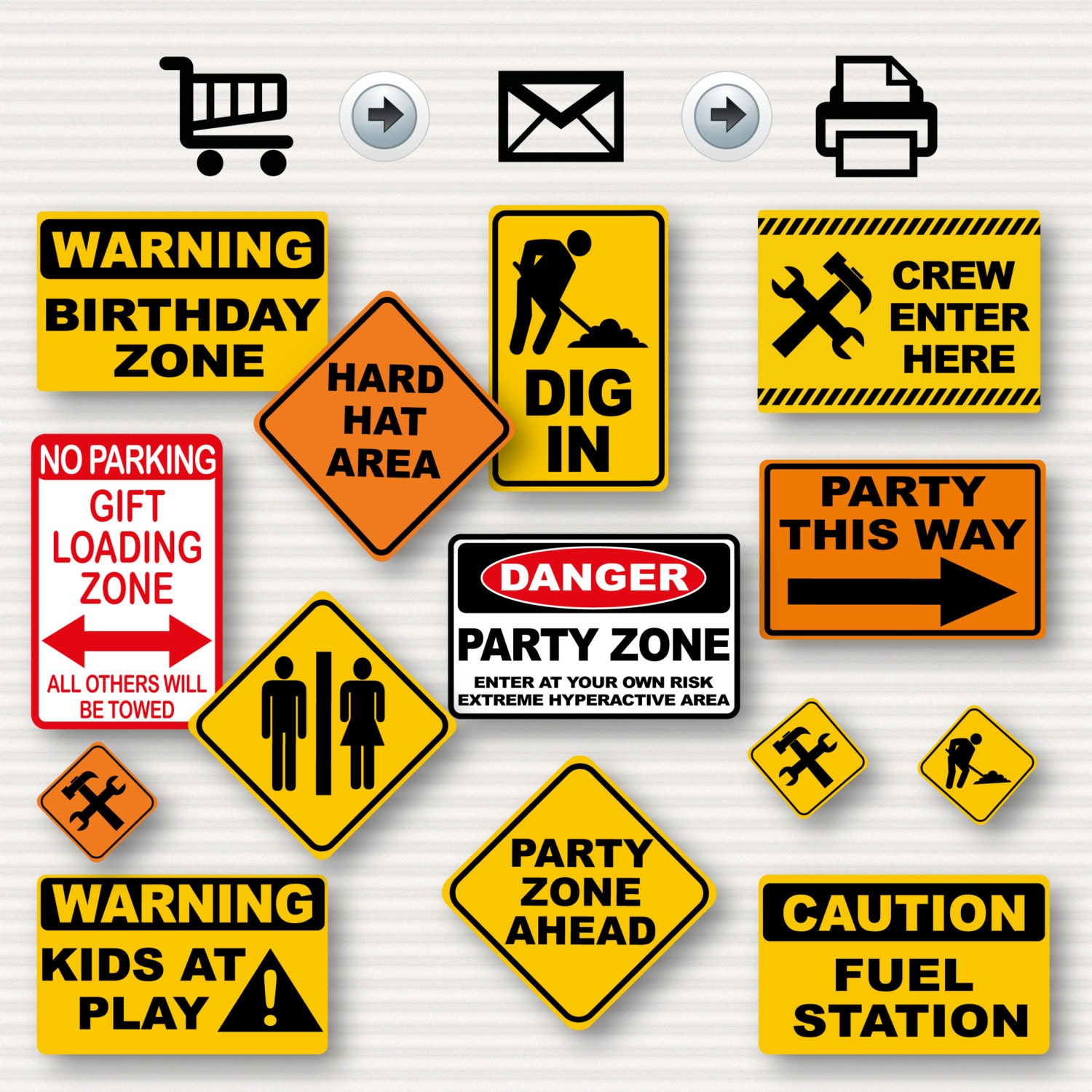 Construction Birthday Party Signs Party Signs Construction
