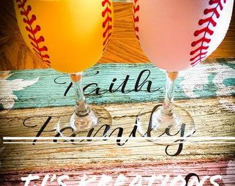 Insulated Wine Baseball / softball cozies