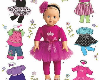 Simplicity 1711- Sewing pattern for 18 Inch Doll Clothes- Fits American Girl Dolls-