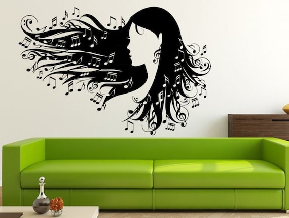 Wall Decal Music Hair Wall Stickers For Living Room Bedroom