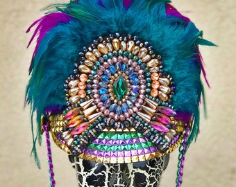 FREE SHIPPING! 'Pavao' Marching Band Hat. Burning Man Hat.